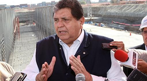 "Presidente García atribuyó a ""nerviosismo"" denuncia de humalistas sobre 'chuponeo'"