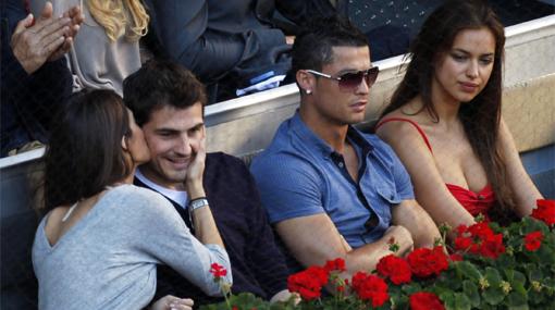 'CR7' y Casillas fueron a la final del Masters de Madrid con sus novias