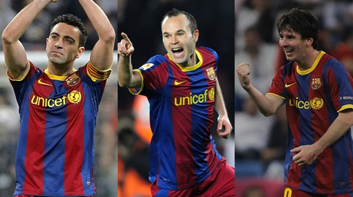 Messi, Xavi e Iniesta: el dolor de cabeza del DT del Manchester United