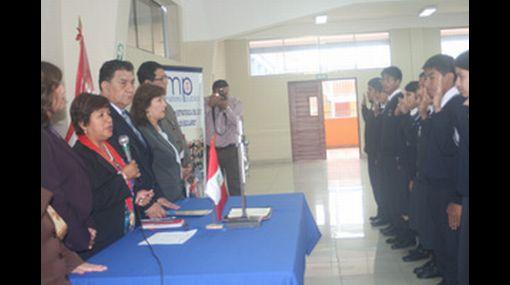 Fiscales escolares del colegio Melitón Carbajal promoverán valores