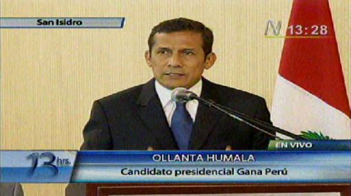 "Ollanta Humala presentó hoja de ruta que busca ""cambio de rumbo"""