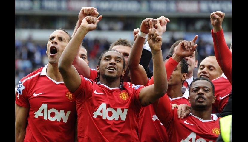 FOTOS: euforia total del Manchester United tras el título de Liga Premier