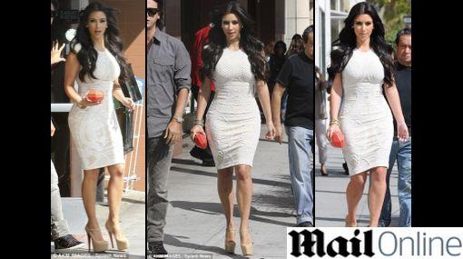 Kim Kardashian alborotó más de uno en su paseo por Beverly Hills