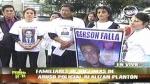 Familias de Wilhem Calero y Gerson Falla exigieron justicia en plantón - Noticias de erika sandoval