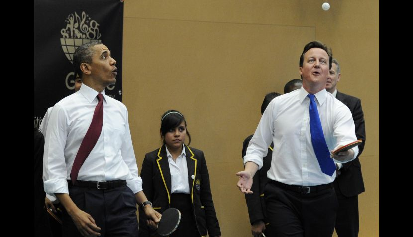 FOTOS: los Obama se reunieron con los príncipes Guillermo y Catalina en Inglaterra