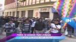 Paro antiminero: comisión de alto nivel llegará hoy a Juliaca - Noticias de fernando quiñones reyes