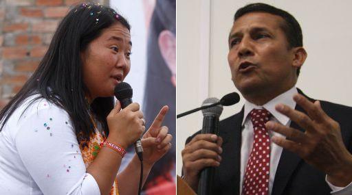 Keiko sube a 46,9% y Humala se mantiene en 41,8%, según Datum