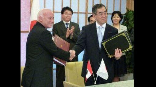 El Perú firmó hoy TLC con Japón tras seis rondas de negociación
