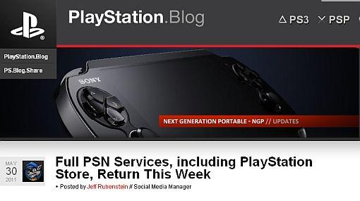 Sony aseguró que la PSN estará operativa esta semana