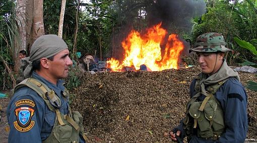 Policía incineró más de tres toneladas de droga incautada desde junio