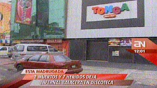 Balacera en discoteca de Los Olivos: aumentan a dos los muertos