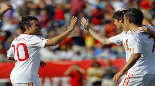España apabulló 4-0 a Estados Unidos en partido amistoso