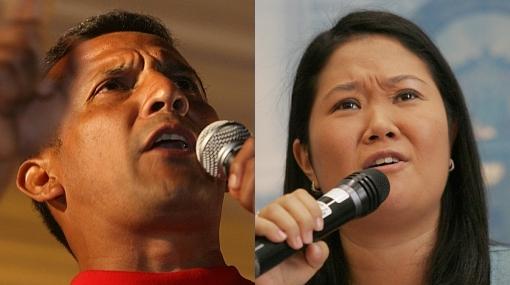"""Irregularidades en elecciones: Ollanta y Keiko observados por """"propaganda electoral"""""""