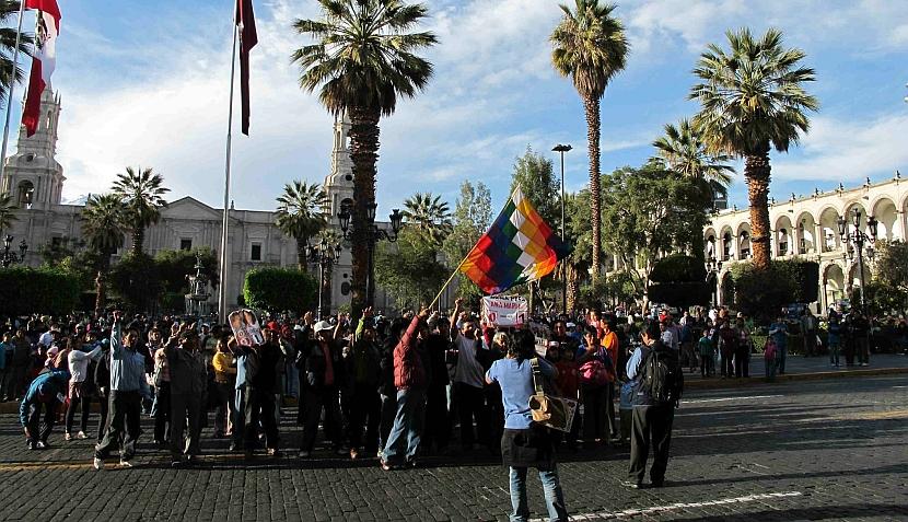 FOTOS: así festejan los arequipeños y trujillanos el triunfo de Ollanta Humala