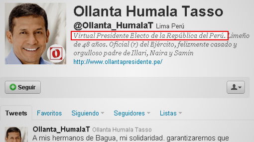 Ollanta Humala sería el primer 'presidente 2.0' del Perú