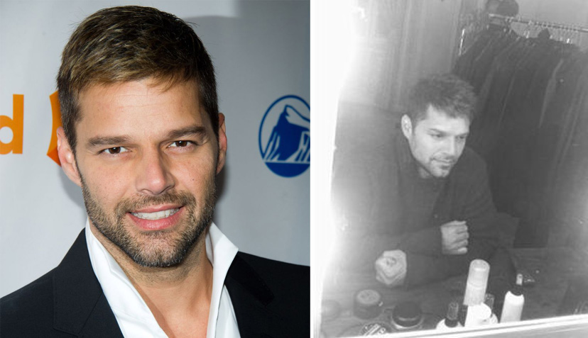 """Ricky Martin publicó foto del """"detrás de cámara"""" de su último videoclip"""
