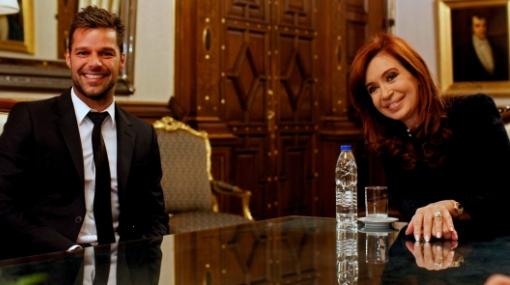 Ricky Martin visitó a presidenta de Argentina en la Casa Rosada