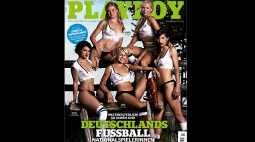 Estrellas de la selección femenina de Alemania se desnudaron para Playboy