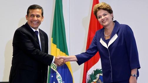 Ollanta Humala fue recibido por la presidenta de Brasil, Dilma Rousseff