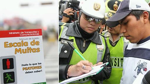 Sanción al peatón: policía solo aplicó nueve multas en mayo