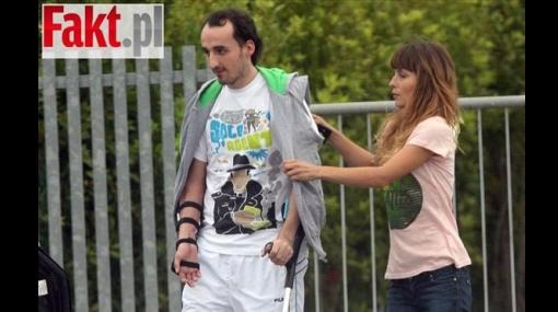 Aparecen primeras fotos de Robert Kubica después de su accidente