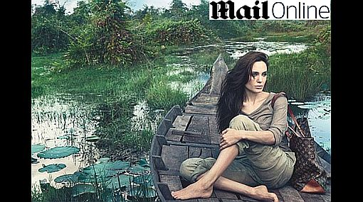 Angelina Jolie posó en Camboya como nueva imagen de Louis Vuitton