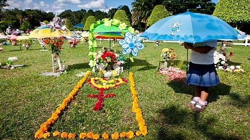 FOTOS: en Iquitos llevan la fiesta hasta los cementerios