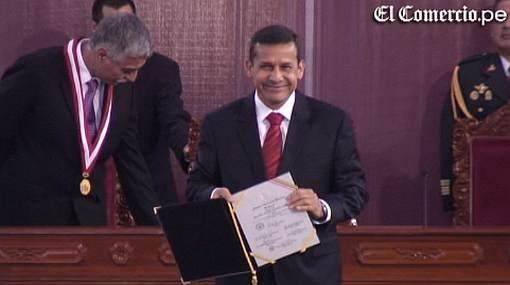 """Humala expresó que recibe credenciales como presidente con """"júbilo y gratitud"""""""