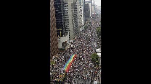 Sao Paulo: desfile del orgullo gay reunió a casi 4 millones de personas