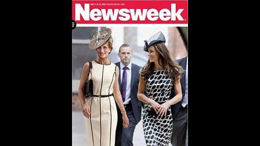 """Lady Di y su nuera Catalina, juntas en portada de revista """"Newsweek"""""""
