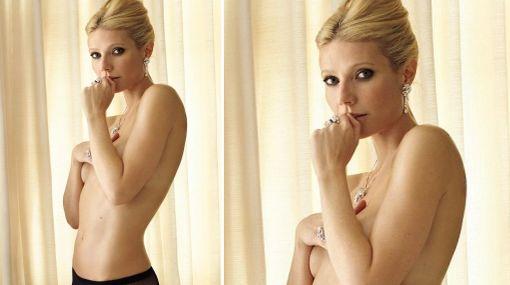 Diosa en joyas: Gwyneth Paltrow lució su belleza en 'topless'