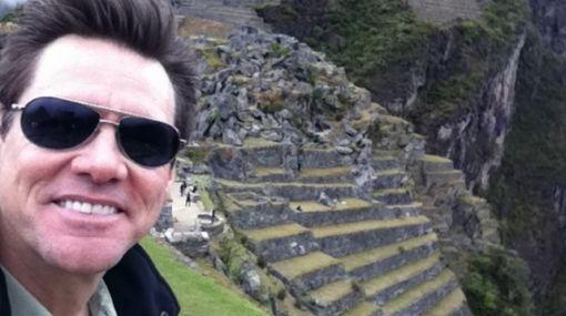 """Jim Carrey tuiteó una nueva foto de Machu Picchu: """"Es increíble"""""""