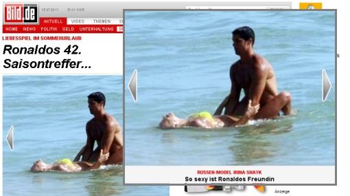 Las placenteras vacaciones de Cristiano Ronaldo con Irina Shayk