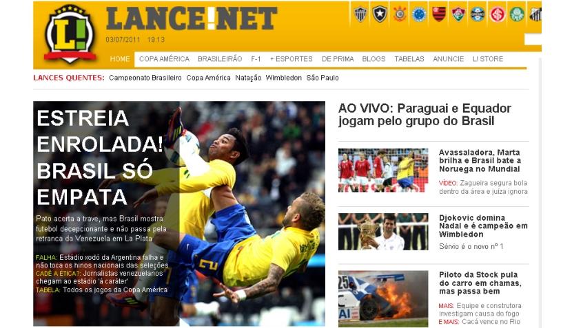 FOTOS: así informó la prensa internacional el empate 0-0 de Brasil ante Venezuela