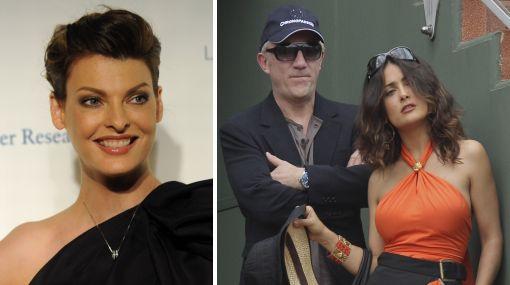 El esposo de Salma Hayek tuvo un hijo con modelo canadiense