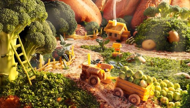 Alimentos hechos paisaje para celebrar la cocina y hablar de sostenibilidad