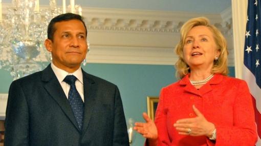 Hillary Clinton expresó a Humala su deseo de visitar Machu Picchu