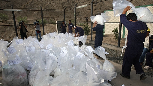 Más de 14 toneladas de droga fueron incineradas en Ate