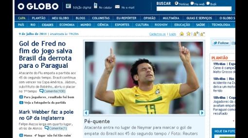 Prensa brasileña le dio con palo al 'Scratch' por 2-2 ante Paraguay