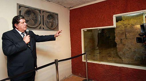 Alan García presentó templete preincaico hallado en sótanos del Palacio