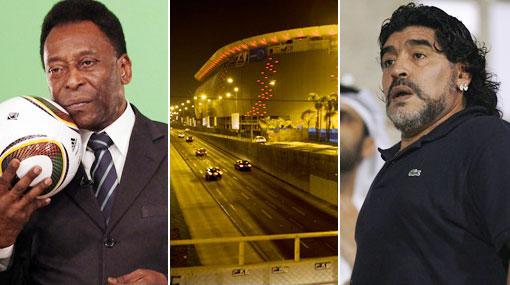 Pelé y Maradona fueron invitados a la reinauguración del Estadio Nacional