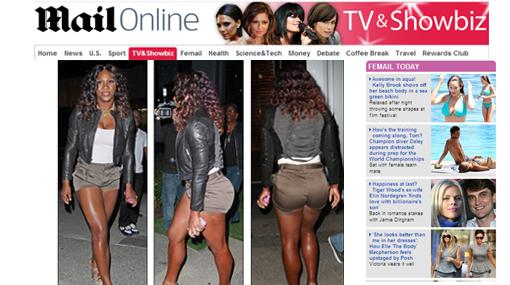 Curvas peligrosas: Serena Williams se lució en diminutos shorts