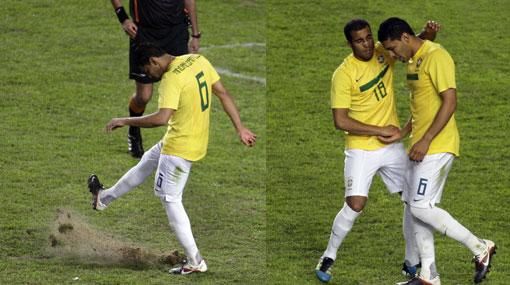 Jugadores brasileños culparon al campo por cuatro penales errados