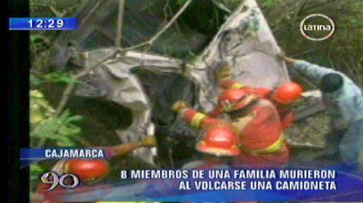 Accidente de tránsito dejó ocho muertos en Cajamarca