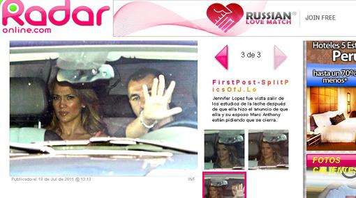 Revelan primeras fotos de J.Lo tras ruptura con Marc Anthony