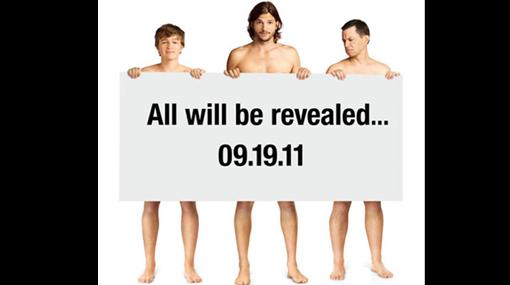 "Ashton Kutcher se desnudó para promocionar ""Two and a Half Men"""