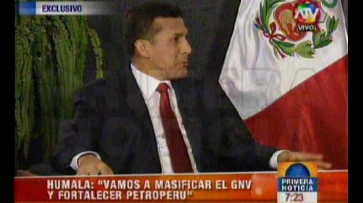 """Ollanta Humala sobre balón de gas: """"Vamos a tender a 12 soles"""""""
