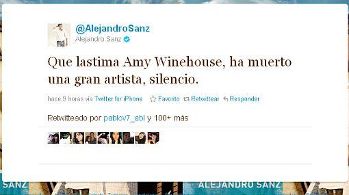 Las estrellas lamentaron la muerte de Amy Winehouse en Twitter