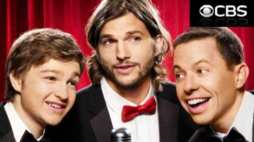 "Ashton Kutcher apareció en nuevo afiche de ""Two and a Half Men"""
