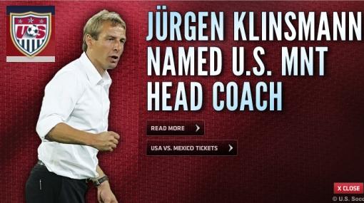 Juergen Klinsmann es el nuevo DT de Estados Unidos